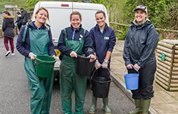 Some of the Animal Care Team
