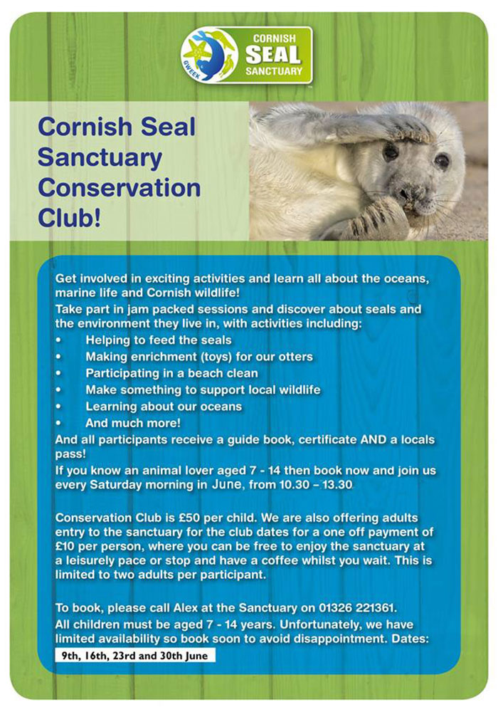 Every saturday in March 2018 will be running the Conservation club for 8 - 14 year olds!