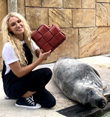 Love Island's Lucie couples up with the Cornish Seal Sanctuary